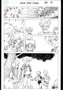 NINJA HIGH SCHOOL #82 PG 14-ORIGINAL ART-BEN DUNN-ANIME-COMIC BOOK-NHS