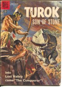 Turok, Son of Stone #12 1959-Dell-Indians vs Dinosaurs-VG-