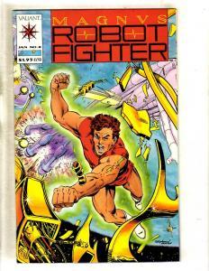 Magnus Robot Fighter # 8 NM Valiant Comic Book WITH CARDS / Coupon RAI # 4 FM3