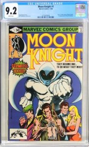 Moon Knight #1 (1980) CGC Graded 9.2