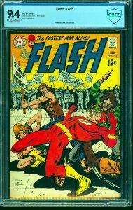 Flash #185 CBCS NM 9.4 Off White to White DC Comics