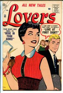 Lovers #83 1957-Atlas-Vince Coletta cover & story art-G