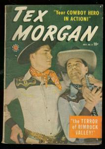 TEX MORGAN #8 1949-MARVEL COMICS-PHOTO COVER----ZOMBIES G