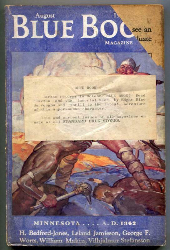 Blue Book Pulp August 1935- H Bedford-Jones G-