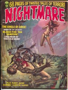 Nightmare #2 1971 Skywald-vampires-Boris horror cover-Syd Shores-Wolfman-FN