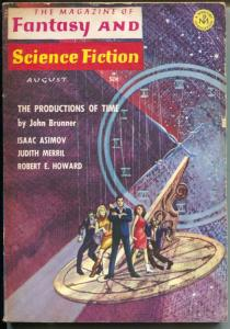 Fantasy & Science Fiction 8/1966-Robert E. Howard-Asimov-Gray Morrison-pulp-VG