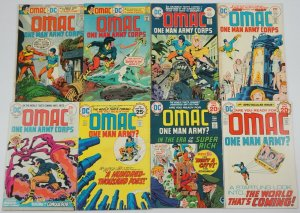 OMAC #1-8 FN complete series - jack kirby - bronze age dc set lot 2 3 4 5 6 7