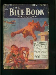 BLUE BOOK 7/30-JOHN CARTER-EDGAR RICE BURROUGHS-SAVAGE PARADISE G