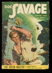 DOC SAVAGE WINTER 1949 GREEN MASTER STREET SMITH RARE VG