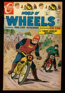WORLD OF WHEELS #17 1967 CHARLTON MOTORCYLE COVER VG