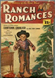 Ranch Romances Pulp December 10 1948- Christmas cover- Western POOR
