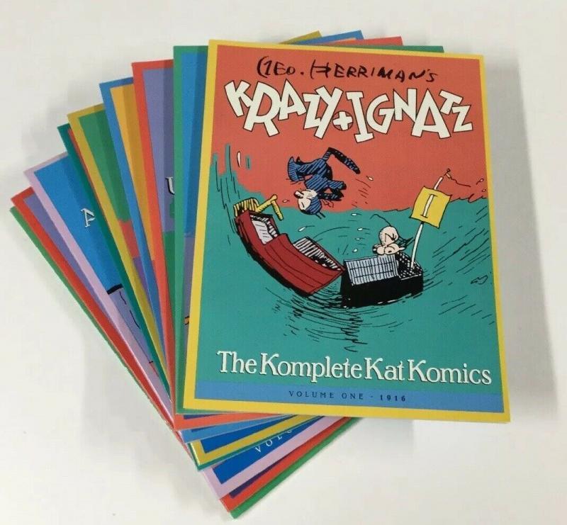 Krazy & + And Ignatz The Komplete Kat Komics 1 2 3 4 5 6 7 8 9 1-9 Nm Near Mint