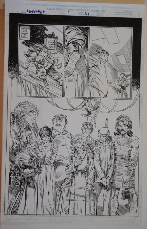 MICHAEL ZULLI / AL WILLIAMSON original art, LONGSHOT #1, pg 31,11x17,1998, X-men
