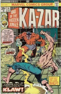 Ka-Zar #14 (1974 v2) 1st Tandy Snow VF-