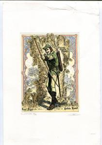 Errol Flynn as Robin Hood Etching by Gerson Kovacs