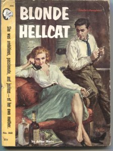CAMEO BOOKS-BLONDE HELLCAT- #368-1957---SPICY PULP HARDBOILED  FICTION