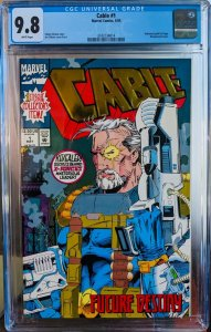 Cable #1. CGC 9.8. Foil Cover. Gold really shines through a new case!