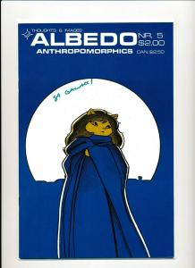 ALBEDO #5  Anthropomorphics Signed Cover Thoughts & Images ~ VF/NM 1986 (PF545)