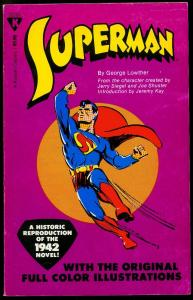Superman by George Lowther Paperback 1979 reprint Siegel & Shuster