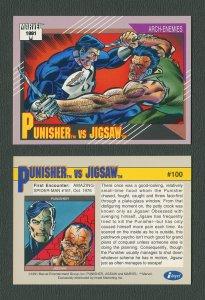 1991 Marvel Comics II  Card  #100 ( Punisher vs Jigsaw )  MINT