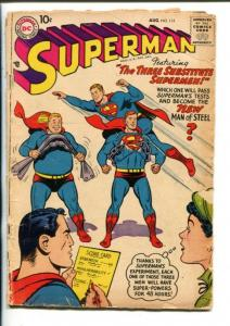 SUPERMAN -#115-1958-DC-SUBSTITUTE SUPERMEN-LOIS LANE-good minus