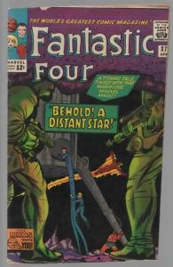 FANTASTIC FOUR 37 GOOD  Trimmed April 1965 Skrull