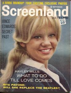 ScreenLand-Hayley Mills-Beatles-Robert Taylor-Sept-1964