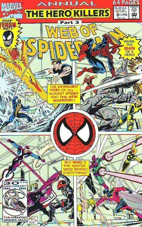 Spider-Man, Web of Annual #8 (Jan-92) NM Super-High-Grade Spider-Man