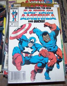 Captain America comic # 334 (Oct 1987, Marvel) new captain america and bucky usa