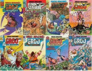 GROO THE WANDERER (PC) 1-8  Aragones  COMPLETE ! VG/+