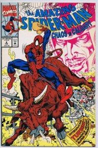 Amazing Spider-Man Chaos In Calgary #4 ORIGINAL Vintage 1992 Marvel Comics