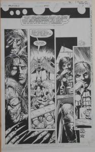 TIMOTHY TRUMAN / TIM BRADSTREET original art, HAWKWORLD #30, Pg #3, 11x17,Signed