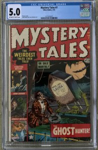 MYSTERY TALES #7 CGC 5.0 O/W to WHITE PAGES! RISING CORPSE COVER STAN LEE ROMITA