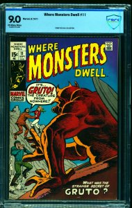 Where Monsters Dwell #11 CBCS VF/NM 9.0 Off White to White