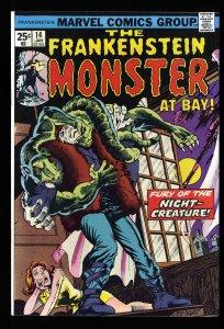 Frankenstein #14 NM 9.4 Marvel Comics