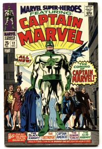 Marvel Super-Heroes #12 1st Captain Marvel-First issue-1967