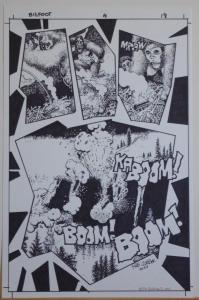RICHARD CORBEN original art, BIG FOOT #1 pg 18, Signed, 11x17, Blown up, Boom