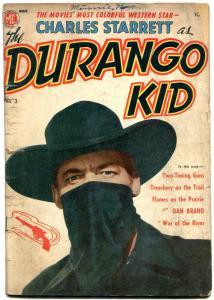 Durango Kid #3 1950- Frazetta story- Charles Starrett photo cover G-