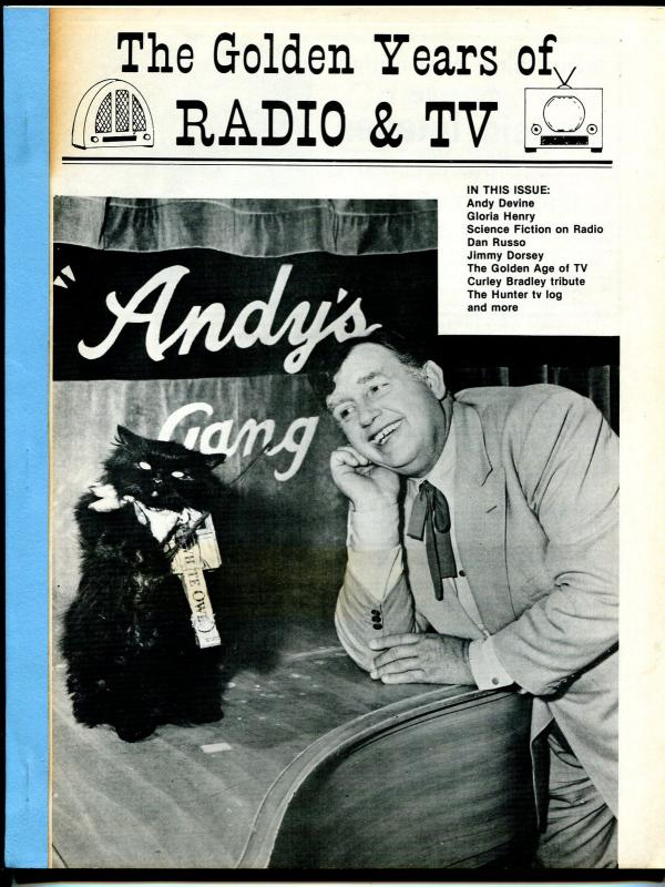 Golden Years of Radio & TV #6 1985-Andy Devine-sci-fi on radio-Jimmy Dorsey-FN