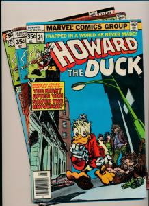 MARVEL LOT of 3-HOWARD THE DUCK #24,#25,#28 1977/'78 GOOD/VERY GOOD (PJ87)