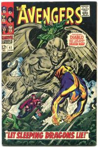 AVENGERS #41-1967-CAPTAIN AMERICA/HAWKEYE comic book VF