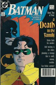 BAT MAN #427 A DEATH IN THE FAMILY PART 2 VFN/NM $8.00