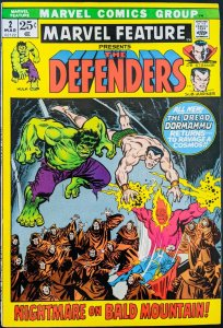 Marvel Feature #2 Presents The Defenders. 2nd appearance The Defenders! Hot! VF