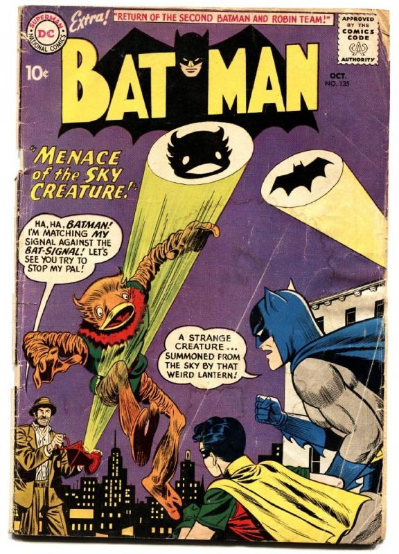 BATMAN #135 comic book 1960-DC-SECOND BATMAN & ROBIN TEAM