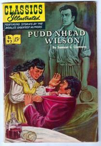 Classics Illustrated #93 (Mar-52) VG/FN Mid-Grade Pudd'n Head Wislon