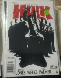 Incredible Hulk  # 42 2002, Marvel monster bruce banner immortal
