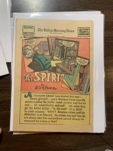 The Spirit Comic Book Section Newspaper Very Fine Or Better 1943 March 14