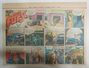 Miss Fury Sunday by Tarpe Mills from 3/26/1944 Size: 11 x 15  Very Rare Year #4