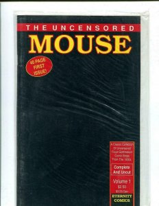 UNCENSORED MOUSE #1, VF/NM, Adult, Factory Sealed, Eternity Comics 1989
