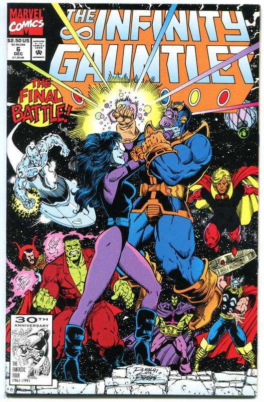 INFINITY GAUNTLET #6, NM, Starlin,George Perez,  Thanos, unread, more in store